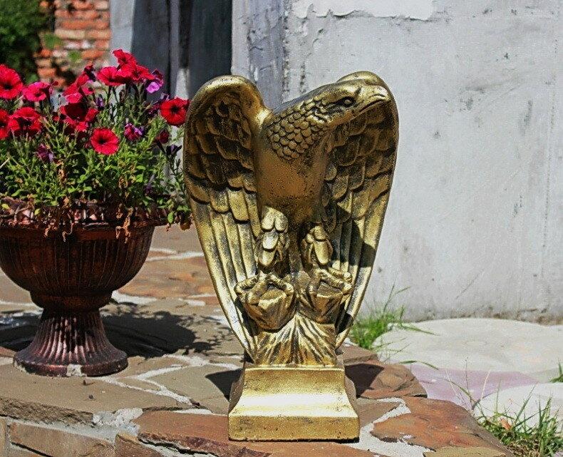 Фигурка Орел (вибролитье) для сада, колпаков забора, печи-барбекю