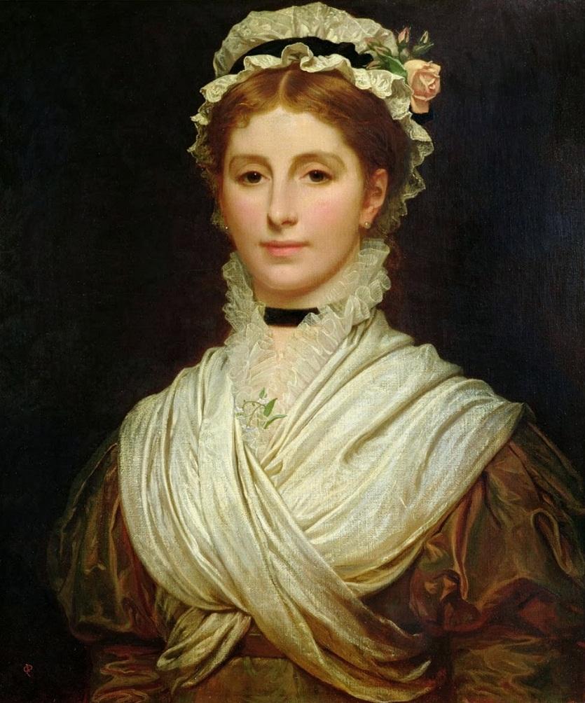 """Чарльз Эдвард Perugini портрет """"с его жены Кейт"""""""