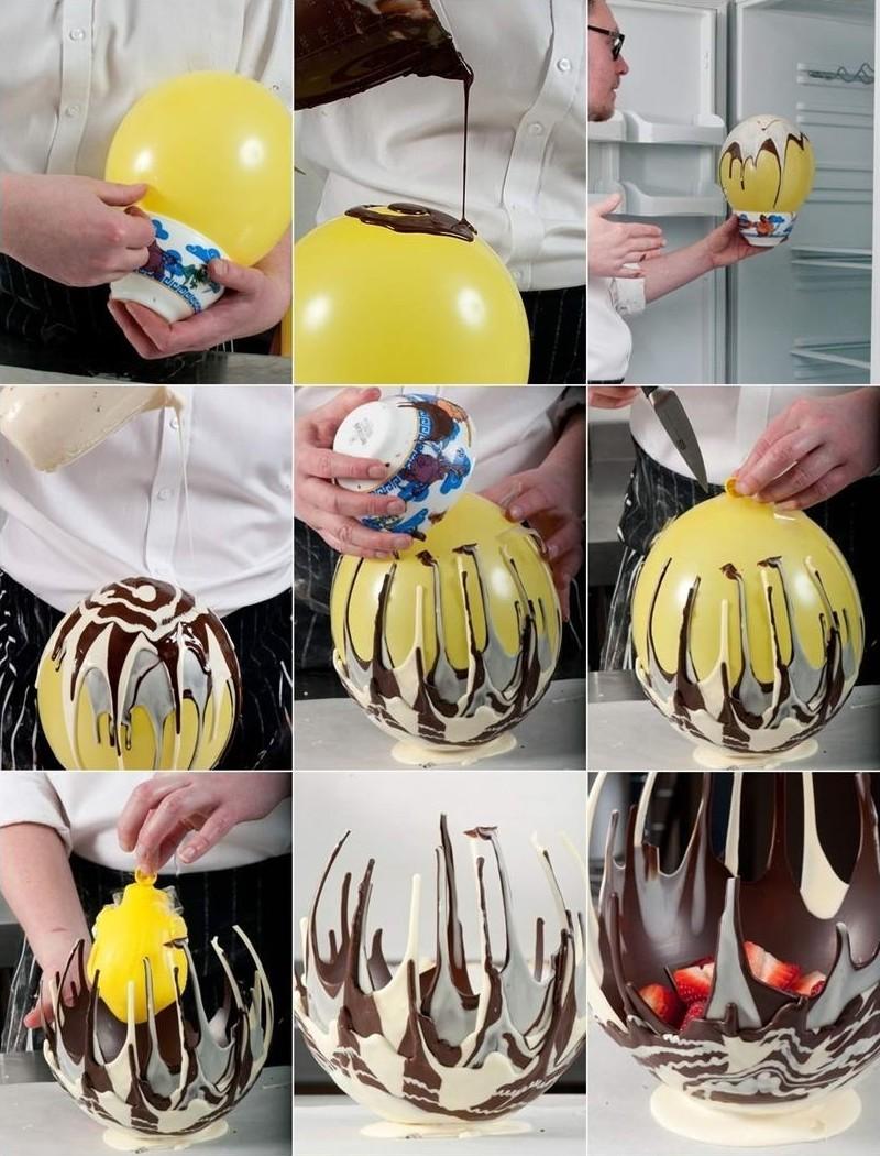 4. Ваза из шоколада своими руками.