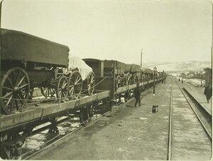 Грузовой состав на станции Мысовая Забайкальской железной дороги