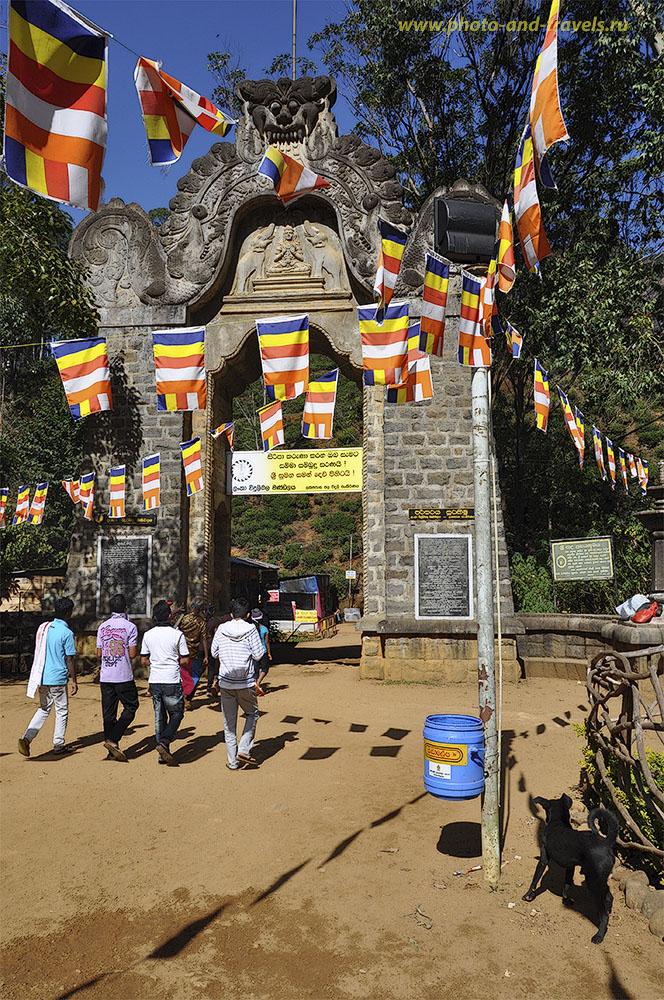 Фотография. Начало тропы, по которой начинается восхождение на гору Adam's Peak (Пик Адама или Шри Пада) в Шри-Ланке