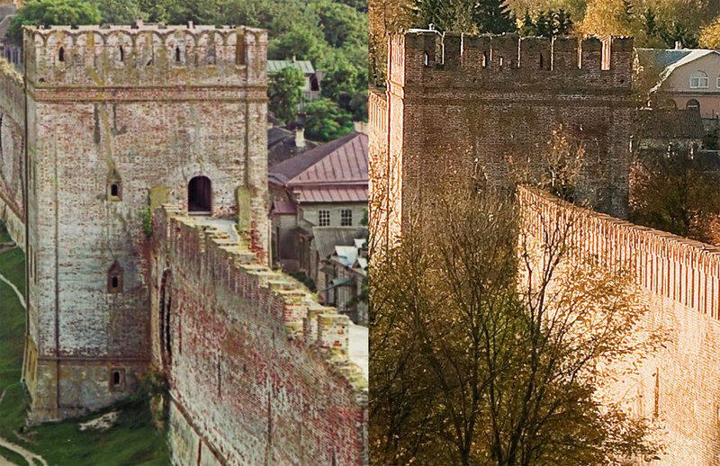 Вид на крепостную стену с башни Веселуха2008.jpg
