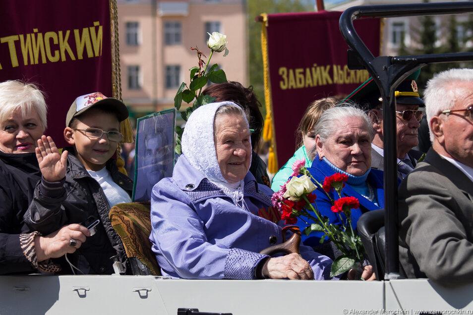 Труженики тыла на параде 9 мая