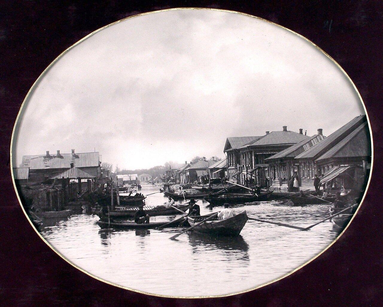 11. Вид засамарской слободки во время разлива реки Самары