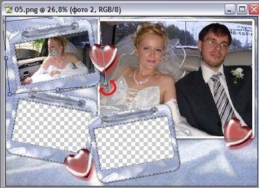 Вставляем фотографии в рамку в Photoshop