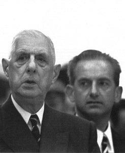 Шарль де Голль и Ален Пейрефит