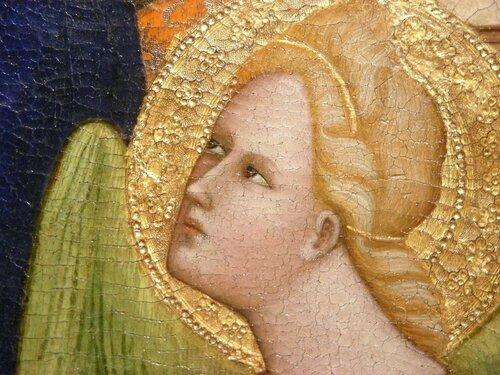 Джованни ди Бартоломео Кристиани. Мадонна с младенцем и ангелами. Фрагмент.