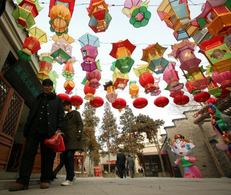 Фестиваль фонарей в Тяньцзинь