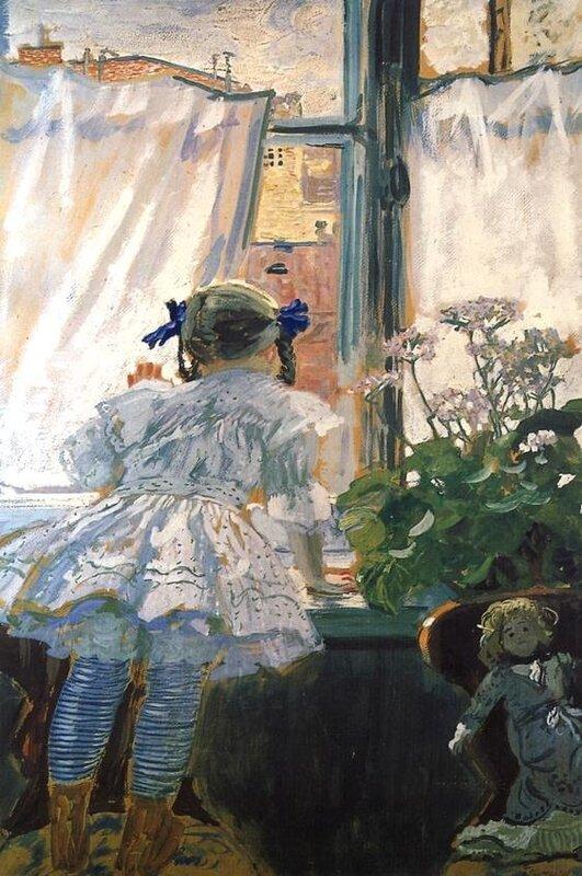 Кустодиев. Портрет дочери. 1910.