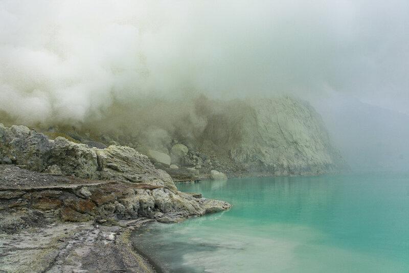 В кратере горы Ижен