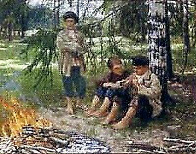 Три мальчика в лесу. Кон. 19в. ЧС, СПб (похищена).jpg