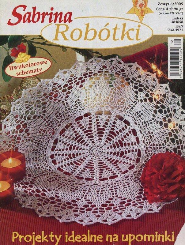 Журнал для вязания крючком салфеток