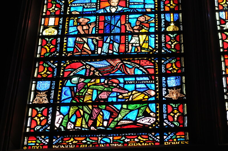 Flickr - The U.S. Army - Military themed stained glass at the War Memorial Chape