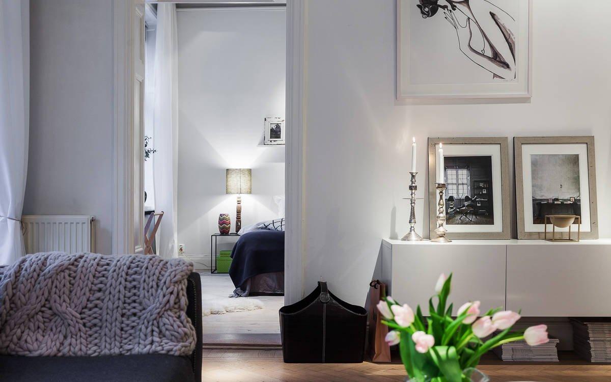 квартиры в Стокгольме, квартиры в Швеции, скандинавский дизайн, интерьер в скандинавском стиле, квартира за 1 миллион долларов, интерьер небольшой квартиры