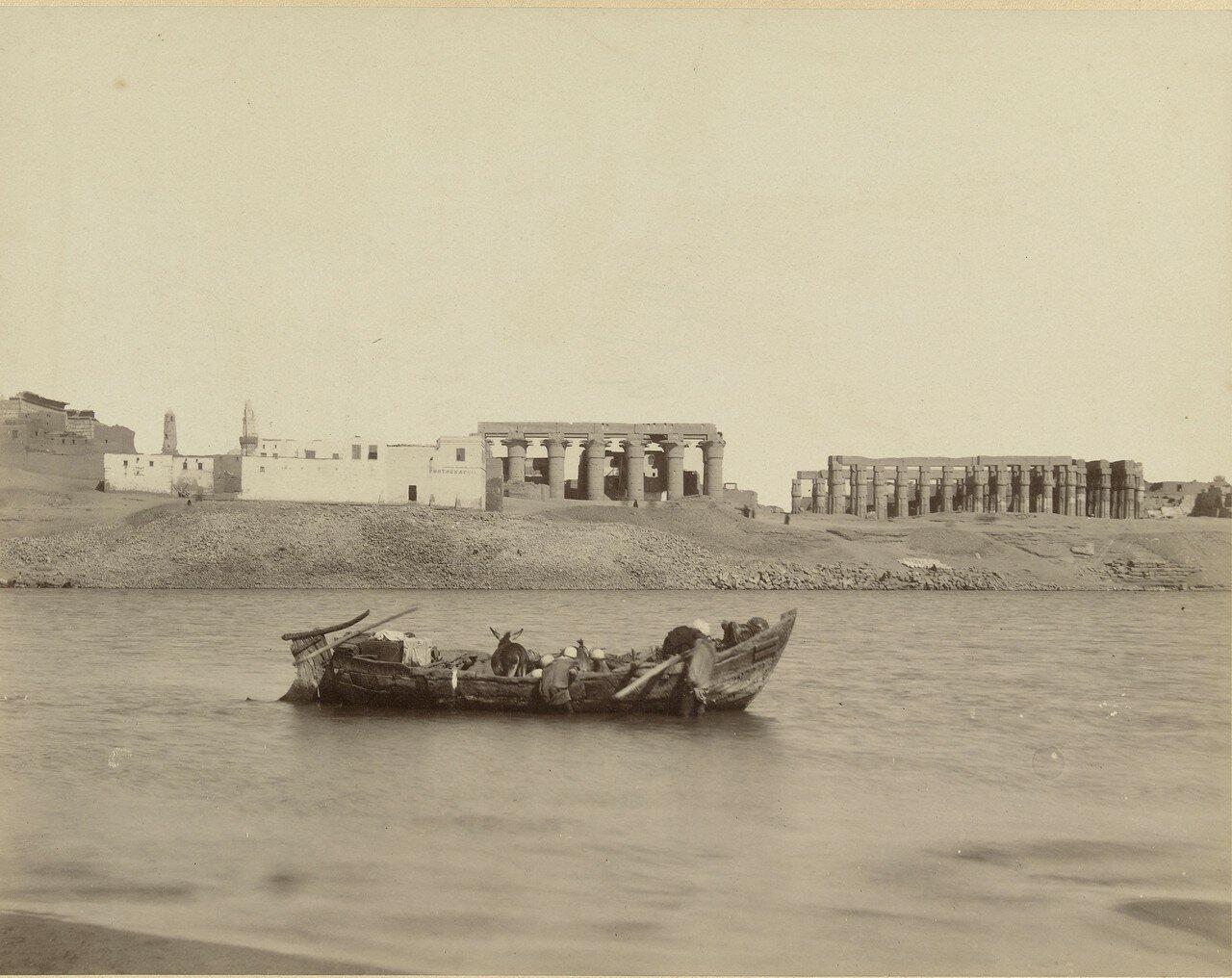 Храмовый комплекс Луксора, вид с Нила