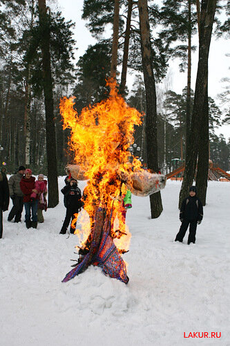 масленица сжигание чучела