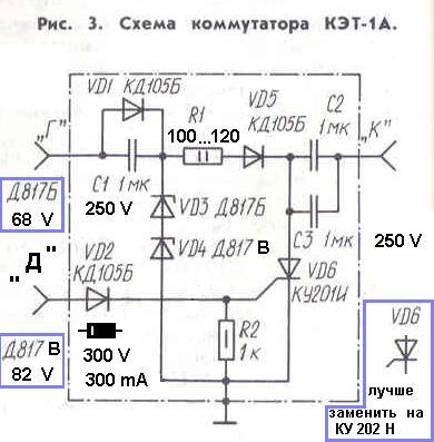 Коммутатор КЭТ - 1 А.»