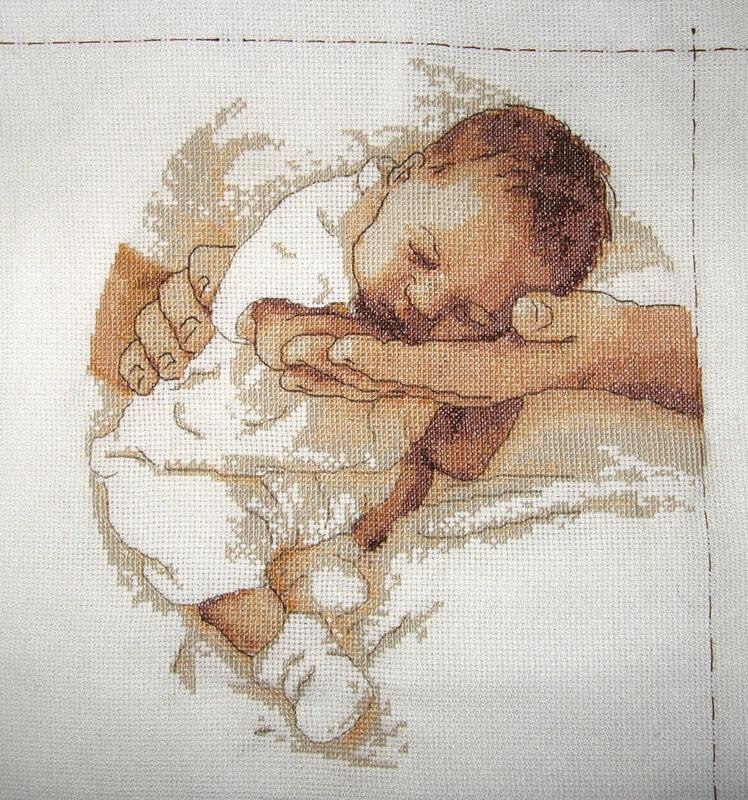 """Схема вышивки  """"Малыш """": таблица цветов."""