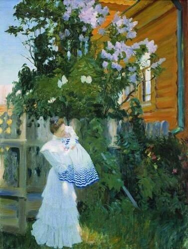 Кустодиев. Сирень 1906. Русский музей