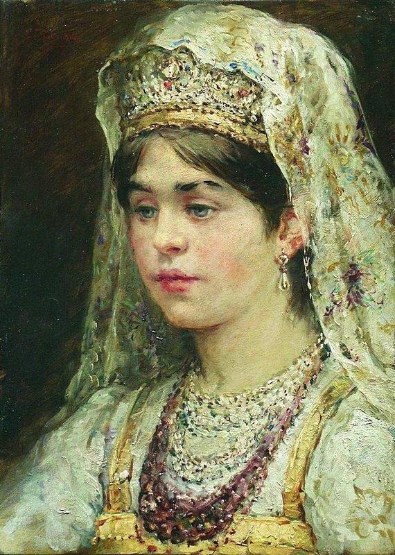 К.Е.Маковский Девушка в русском костюме