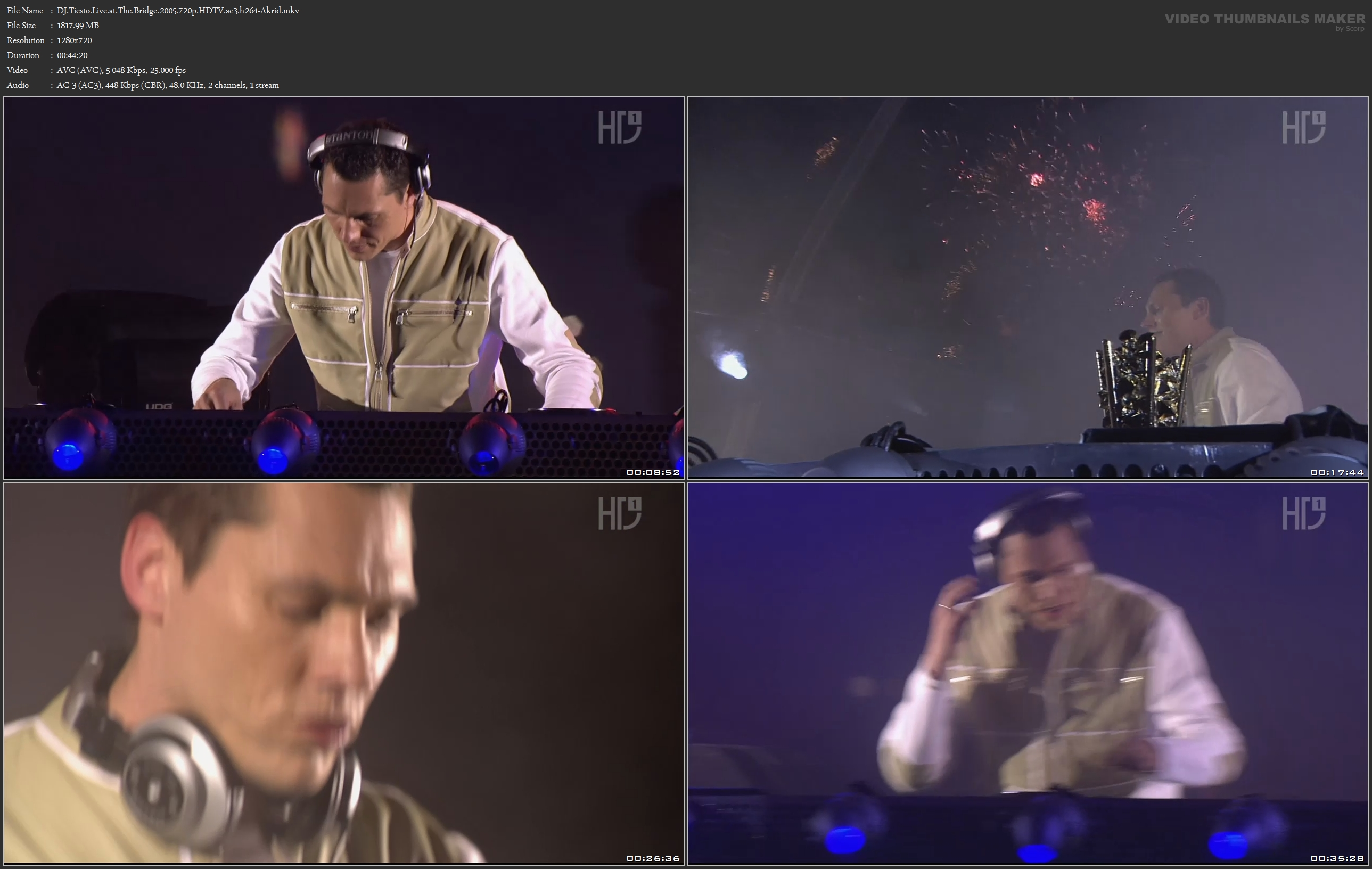 DJ Tiesto - Live at the Bridge 2005 TMF Awards [720p]