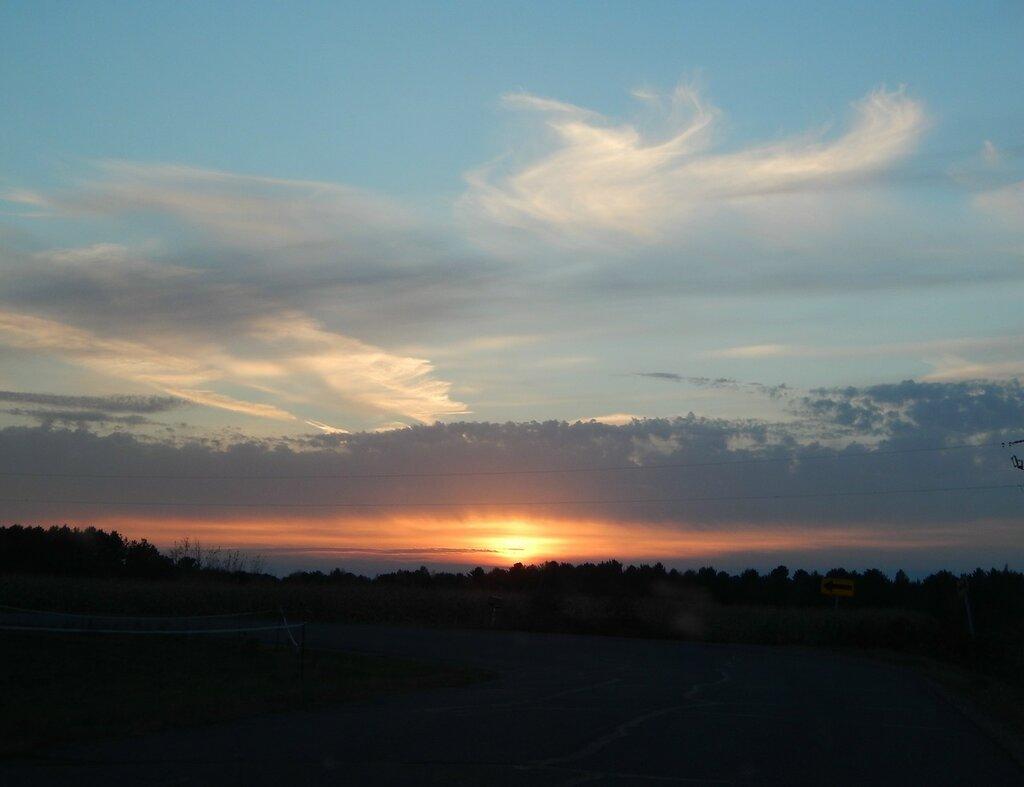 Sunset on Alexander Lake.