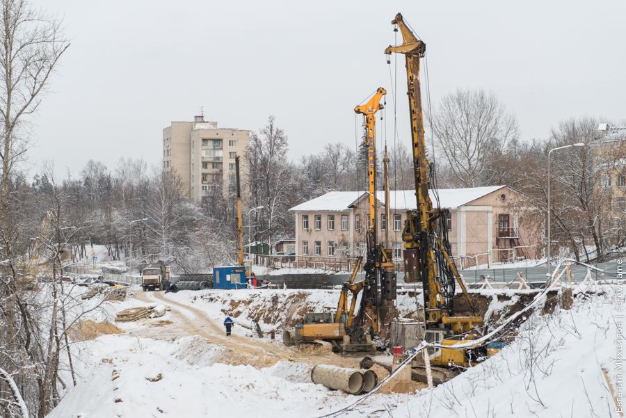 строительство подпорной стенки на Октябрьском проспекте в Сарове