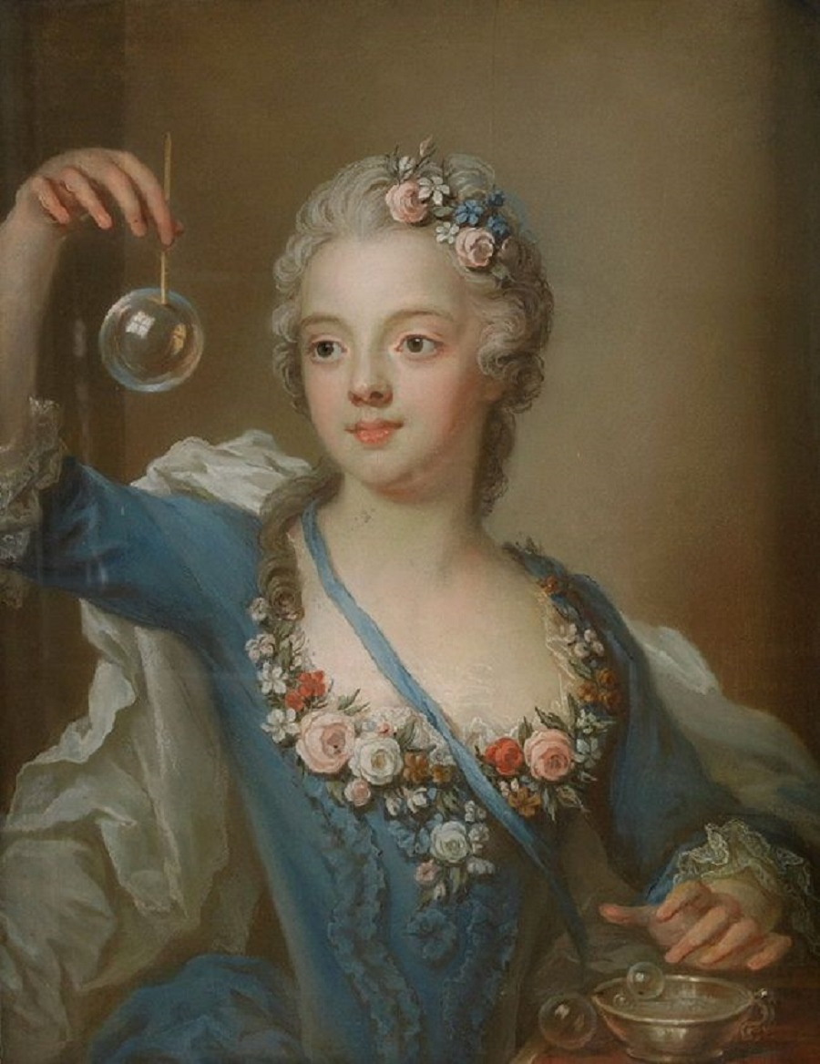 2 Gustaf Lundberg (Swedish, 1695-1786) - Girl with a bubble..jpg