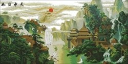 Журнал Буклет вышивки-Пагода у водопада