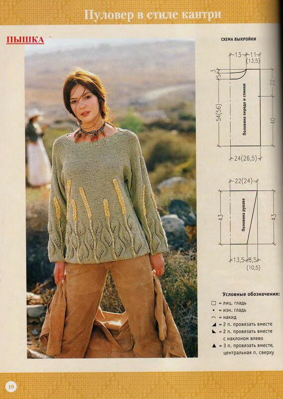 свитер в стиле кантри