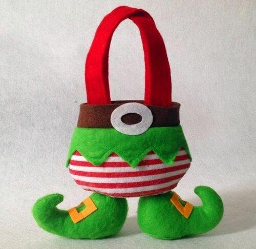 Тематические мешочки для рождественских подарков