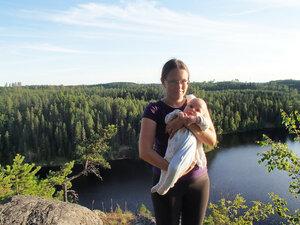 пеший поход по .южной финляндии с младенцем