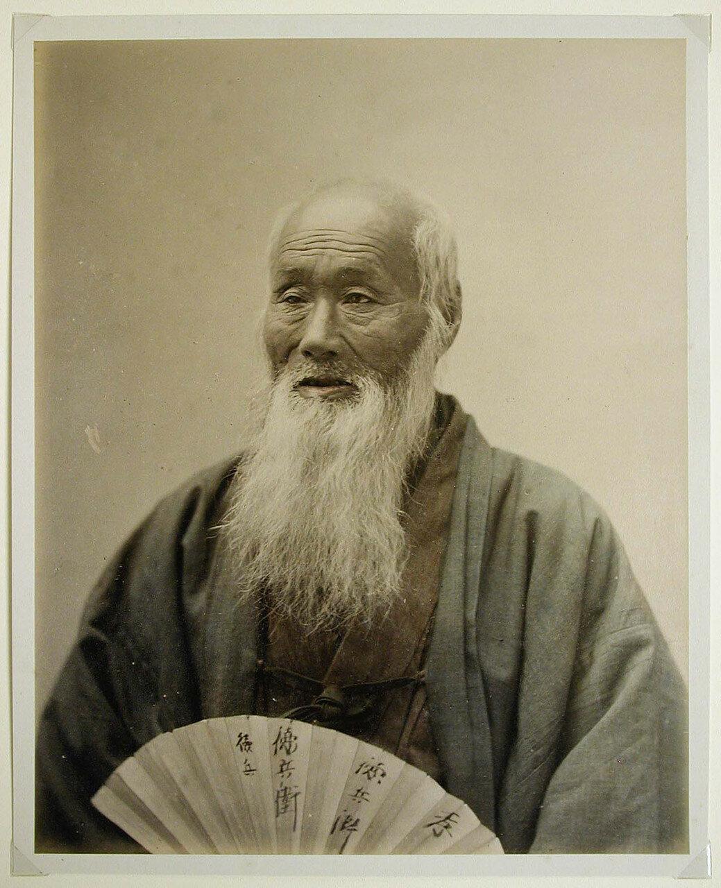 Портрет старика с веером. 1880