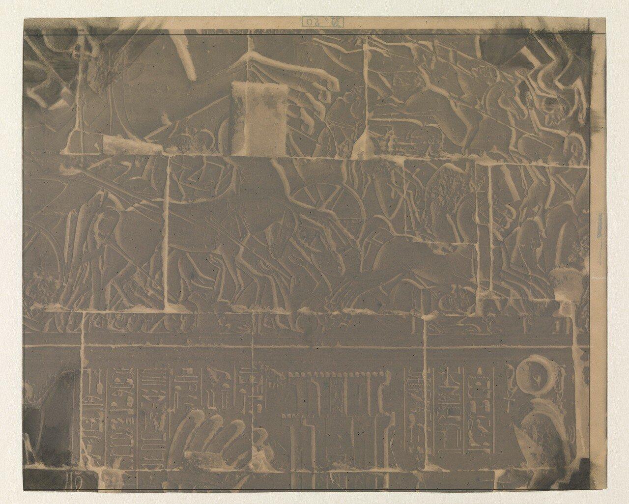 Стена храма и иероглифы,1851