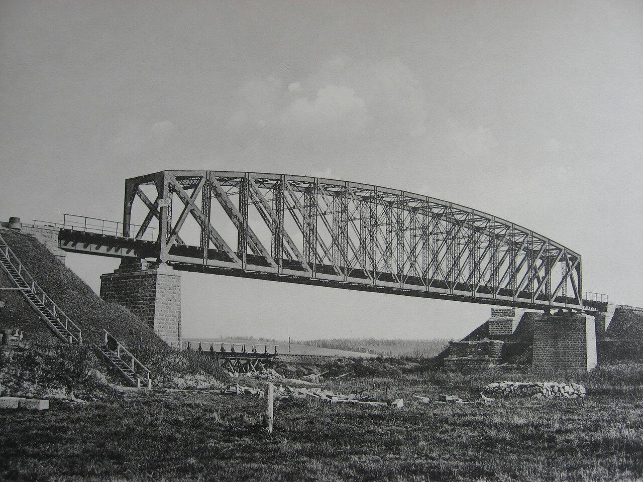 79. 2884 верста. Сооружение моста через р. Залари. Строительный период 1908