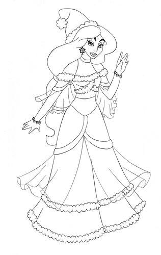 Принцессы диснея жасмин