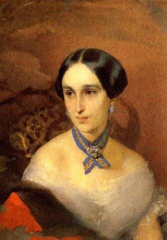 И.К. Макаров Наталья Николаевна Ланская 1849 г