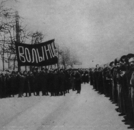 Восставшие солдаты Волынского полка