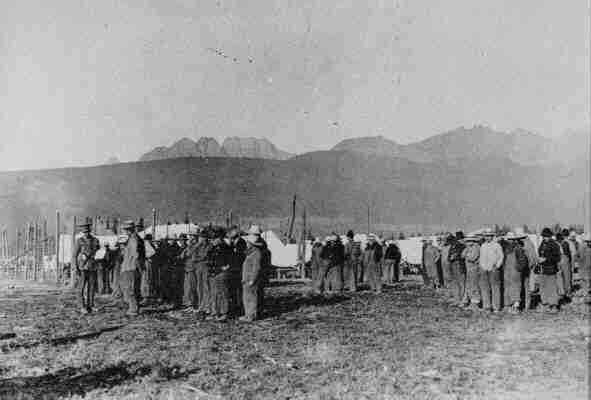 Альберта, лагерь для интернированных украинцев, 1915