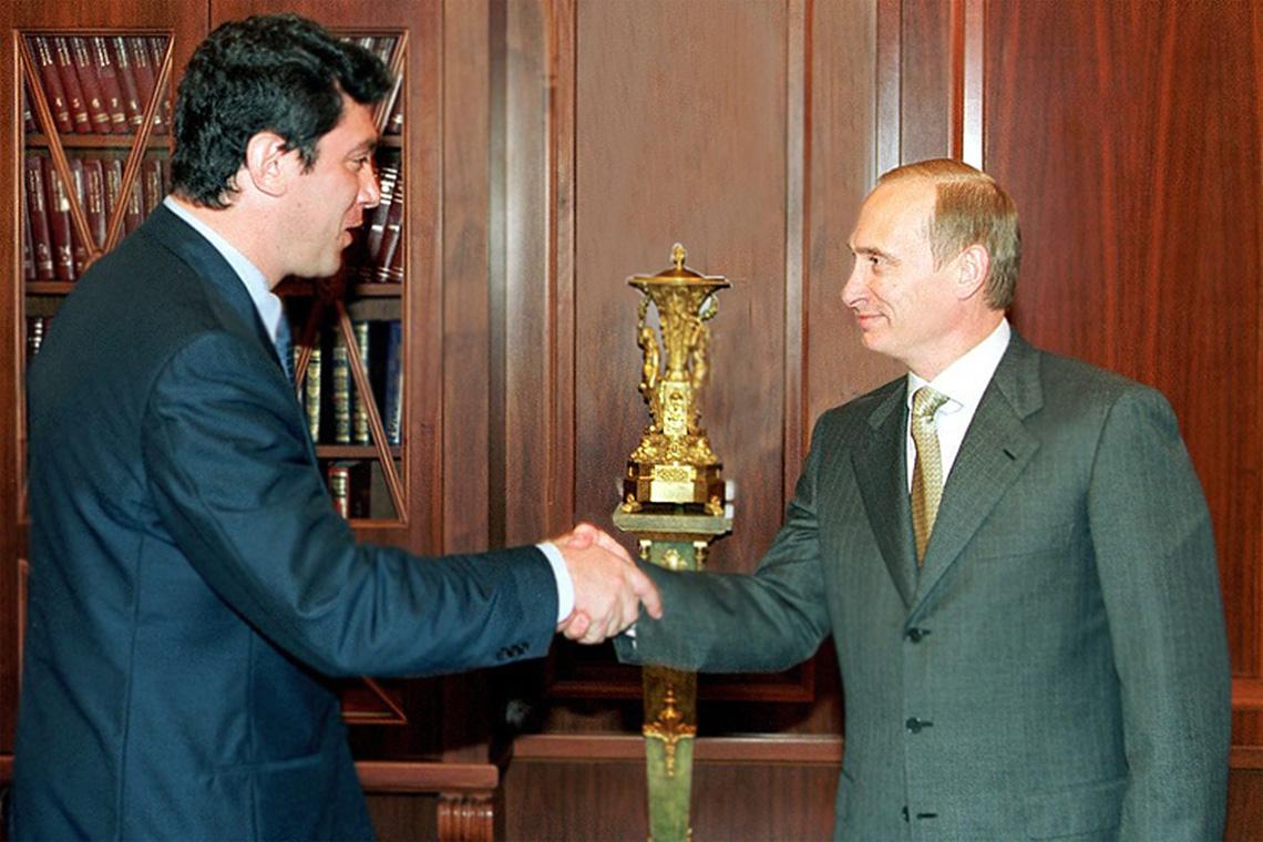 Борис Немцов и Владимир Путин. Встреча.