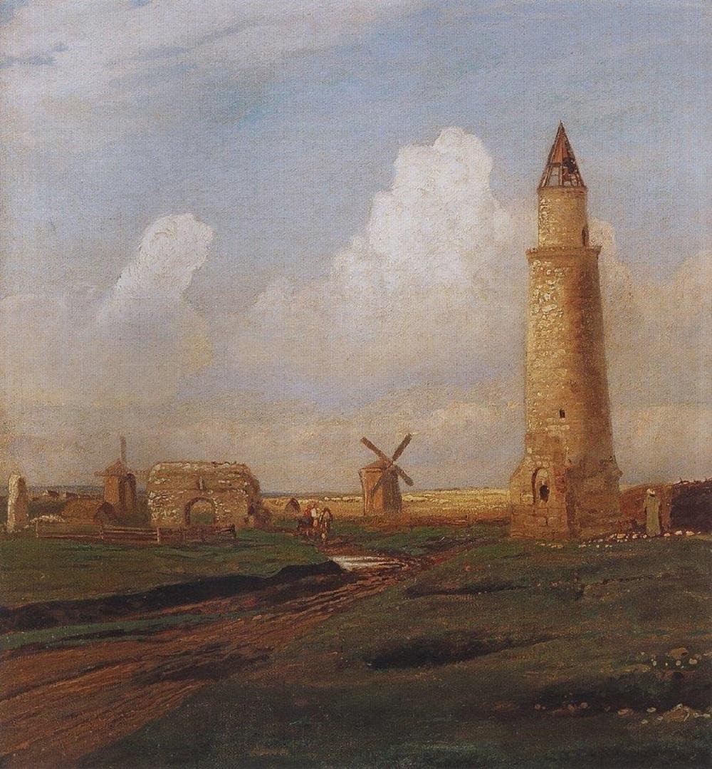 Село Болгары. Малый минарет и развалины Белой палаты, 1872-1874.jpg