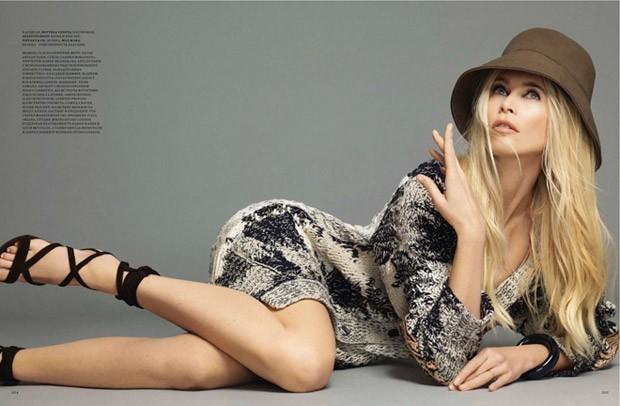 Клаудия Шиффер (Claudia Schiffer) в журнале Harper's Bazaar Russia