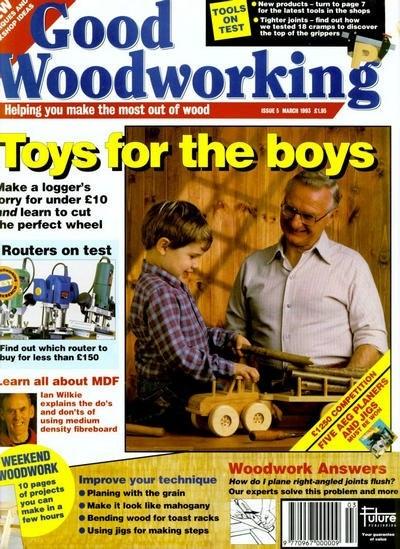 Книга Подшивка журналов: Good Woodworking №№1-5 (1992 - 1993)[En]