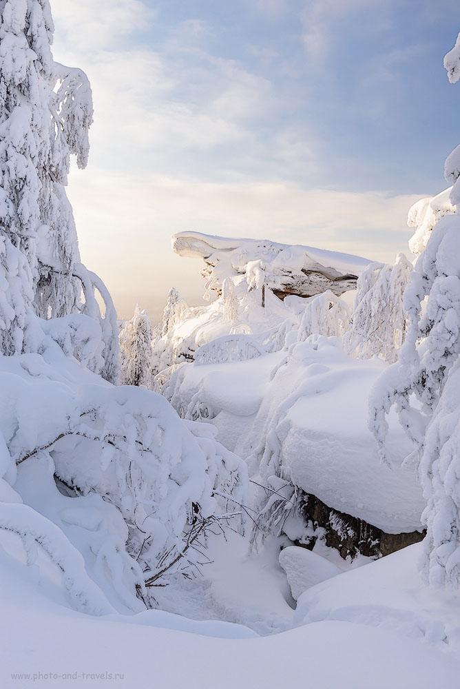 Фото 14. Каменный город зимой. Отзыв о походе выходного дня в Пермском крае. 1/125, +0.67, 9.0, 320, 32.