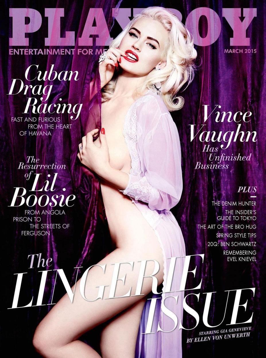 Джиа Женевьив / Gia Genevieve by Ellen von Unwerth in Playboy USA march 2015
