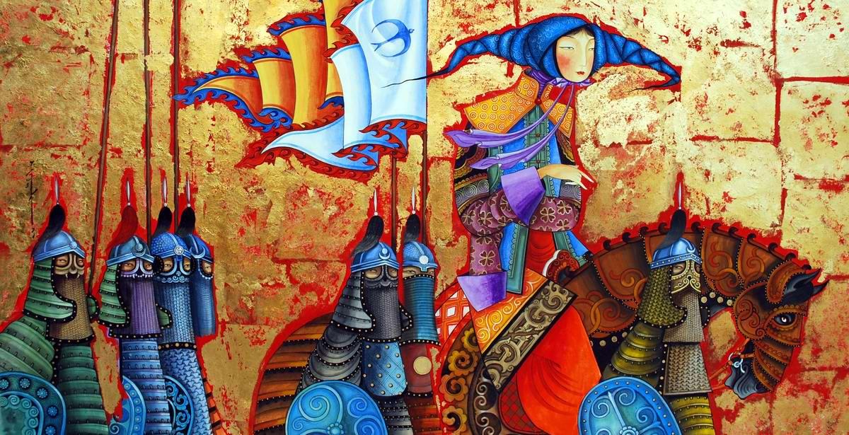 Монгольская принцесса со своей свитой