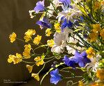 Цветы ручной работы из глины. Полевые цветы. Ручная работа.