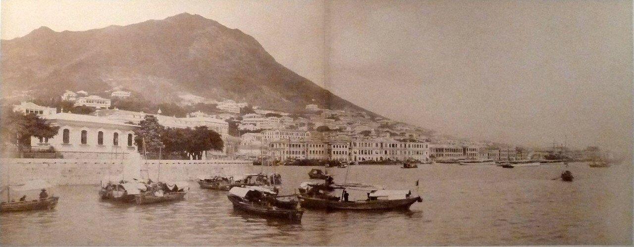 1880. Гонконг. Панорама гавани