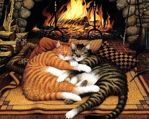 Кошки для декупажа