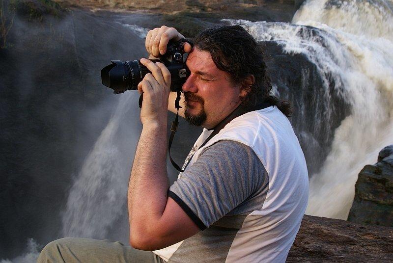 Я на фоне водопада Murchison Falls